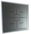 UNIWERSANY wyłącznik dotykowy 5 polowy  Sterbox srebrno-szary